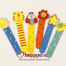12pcs Cute Cartoon Book Mark Clip Wood Ruler Scale Sweet Stationary Kids Party Favors Prize Goodie Bags Giveaways School