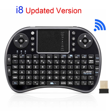 Original i8 Rechargeable Mini Wireless Keyboard 2.4Ghz Russian English Version Touchpad Handheld Air Mouse For Android TV Laptop(China)