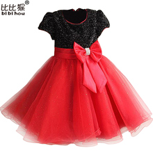 2-9yrs New Summer Girl Dress With Big Bow Baby Girls Princess Flower Party Dresses Children Clothing Vestidos de Menina Infants