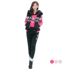 winter Thickening thermal maternity clothing set fashion three piece set plus velvet ,top quality for pregnant women(China)