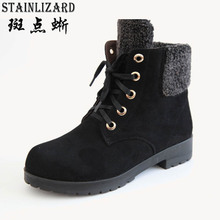 2015 autumn new style fashion female boots warm and comfortable women's boots Korean fashion suede boots lace-up DT587