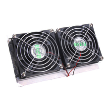 Thermoelectric Peltier Refrigeration Cooling System Kit Cooler 2 x Double Fan DIY New