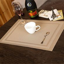 4pcs/set PVC Placemat Table Mat Adiabatic Protector Coasters Dining Table Decors