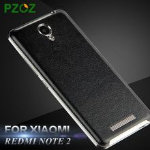 PZOZ Xiaomi Redmi Note 2 Case Leather Battery Back Cover Original Xiomi Redmi Note 2 Luxury Replacement Shell Xiaomi Redmi Note2