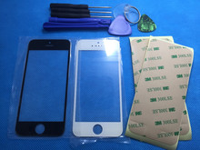 2PCS Front Outer Replacement Touch Screen Digitizer Glass Lens + Stickers For iPhone 5 5C 5S SE With Repair Tools