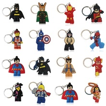 100PCS/Lot Superheroes Hot Cartoon Keychains PVC+Keyring Kids Gift Party Favors Bag Straps Key Cover Chaveiro Jewelry(China)