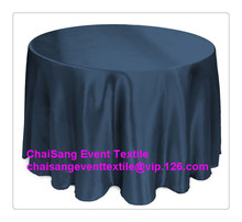 10pcs Factory Direct Sale Navy Blue 145cm Round Satin Table Cloth ,Table Overlay ,Satin Cloth For Wedding Event Decoration(China)