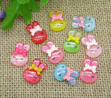Buy 50Pcs Mixed Rabbit Resin Decoration Crafts Beads Flatback Cabochon Scrapbook Kawaii DIY Embellishments Accessories Buttons for $2.65 in AliExpress store