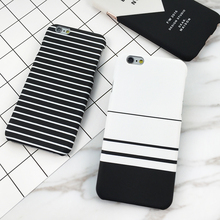 White Black Zebra Stripe Case Cover For iphone 7 Case For iPhone 7 Plus 6S 6 Plus 5 5S Hard Plastic Protect Phone Cases Coque(China)
