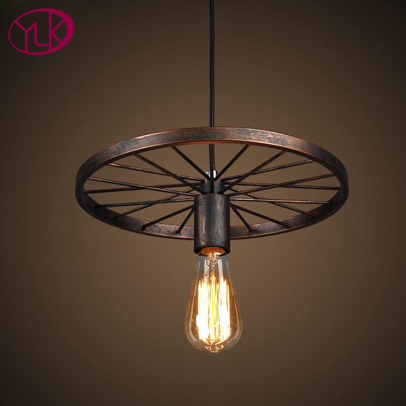 Vintage pendant light fitting American style Rope drop lamp lustre Antique Edison bulb suspension light for Dining room pendant<br>