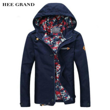 HEE GRAND Men's Jacket 2017 Spring New Arrival Men Jacket With Hood Fashion Jacket Casual Spring & Autumn Jacket 5 Colors MWJ806