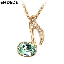 SHDEDE Fashion Necklace Crystal from Swarovski Exquisite Necklaces Pendants Music Notation Designer Jewellery Women 2723