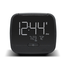 2017New Cube  Radio Alarm Clock Wireless Bluetooth Speaker Snooze Mute Gadgets LCD DigitalClock Two USB Charging Watch WITFAMILY
