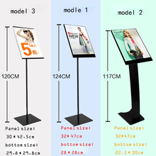 Metal Advertising Literature File Paper Poster Sign Display Indicating Store Guide Door Floor Pop Signage Display Frame Stand(China)
