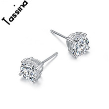 Tassina Multicolor Selection Crystal Zircon Earring For Women Fashion Elegant Round Stud Earrings Jewelry Wholesale YT-E196