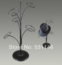 New arrival design Metal  Hat Display Stand/Hanging hat racks 5-holders