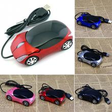 New Innovative Mini Car Shape USB Optical Wired Mouse with 2 Headlights Mouse for Desktop Computer Laptop(China)