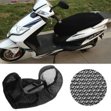 3D Motorcycle Electric Bike Breathable Net Seat Cover Protector Cushion Black(China)