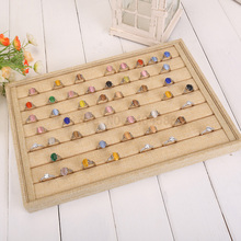 Hot sale table top linen jewelry earrings Rings Display Tray Stand Holder with factory price