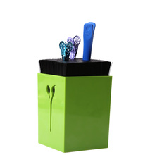 Professional Hairdressing Scissors Holder Stand Case Salon Hairdresser Scissors Hair Clips Storage Box Pot Clips Scissors Holder(China)