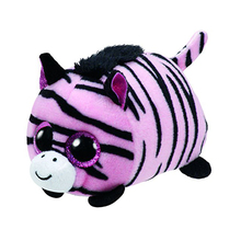 "Ty Beanie Teeny Tys 4"" Pennie the Pink Zebra Plush Beanie Boos Plush Stuffed Animal Collectible Soft Doll Toy"