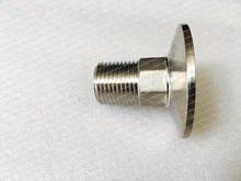 "Adapter 1.5"" tri-clamp OD50.5 to external thread 1/2"" (DN15) stainless steel 304(China)"