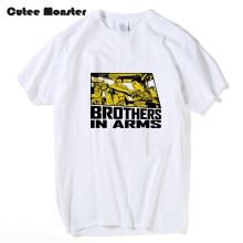 Brothers in Arms Letter Printed T-shirt Men Mad Max Fury Road 100% Cotton Tees Fashion Short Sleeve Top Clothing Plus Size 3XL