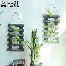 Ladder Shape Wall Haning Hydroponic Vase Storage Rack Flowers Plants Pot Planter Vase Stand Shelf Home Office Decoration(China)