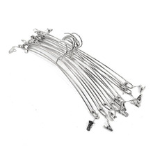 Creative Metal Double Wire Clip Hanger For Bra Underwear Lingerie Panties Holder Rack Clothes Silver Gold Laundry Product ZA3148(China)