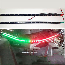 "2x Boat Navigation LED Lighting RED & GREEN 12"" Waterproof Marine LED Strips(China)"