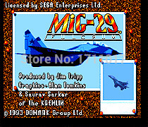 Mig 29 16 bit MD Game Card For Sega Mega Drive For Genesis