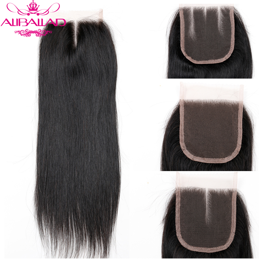 Aliballad Brazilian Straight Middle Part 4x4 Lace Closure 10-20 Inch Non-Remy Hair Natural Color 100% Human Hair Free Shipping6