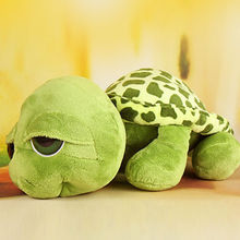 Infantil Funny Big Eyes Green Tortoise Turtle Animal Baby Stuffed Plush Toy Birthday Gift Photography Props