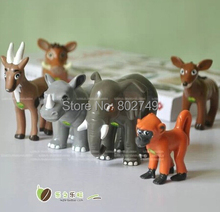 6pcs/lot Dora Diego Zoo Animal Rescue Animal Action Toy Figures(China)