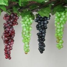 Artificial Fruit Grapes Plastic Decorative Fruit Lifelike Home Wedding Party Garden Decor Simulation Fruit 4(China)