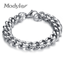 Modyle Stainless Steel Thick Chunky Chain Bracelet For Man Top Grade Fashion Men Jewelry(China)