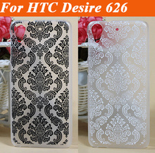 Painting Vintage Black &White Paisley Flower colored hard pc Cover Case For HTC Desire 626 626G 626G+ Phone Cases For HTC 626