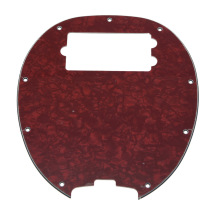 KAISH  Bass Pickguard MusicMan Stingray MM4 Scratch plate for Music Man MM2 4 String Guitar Parts Red Pearl