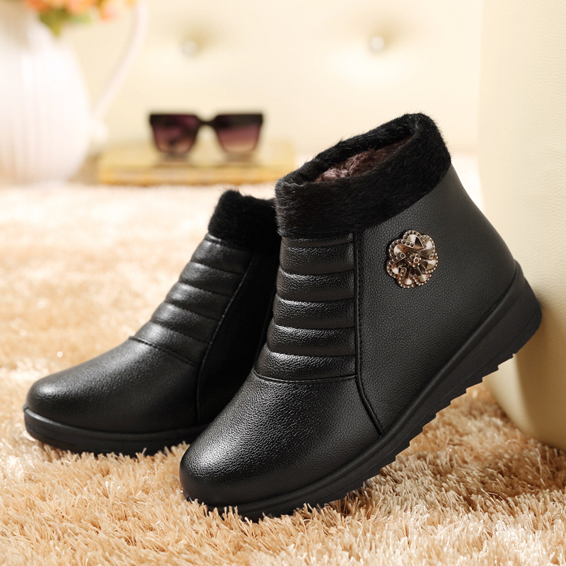 Women Winter Boots Female Zip Ankle Boots Waterproof Warm Snow Boots Ladies Shoes Woman Warm Fur Botas Mujer Size 35-41<br><br>Aliexpress