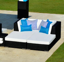 2017 Outdoor Furniture Resin Rattan garden lounge bed SG-180C(China)