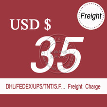 USD$35 DHL delivery freight cost charge for few pcs samples