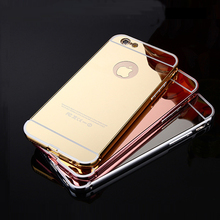 Luxury Metal Aluminum Frame Mirror phone cases  For iPhone 4 4S 5 SE 5C 6 6S 7 8 Plus ipod touch 5 6 case Cover coque funda capa