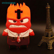 Mobile Case For LG G4 Stylus/Q7 X210G/Q10 K410G Phone Housing 3D Cartoon Anger Soft Silicon Back Protective Cover Free Shipping