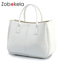 ZOBOKELA Fashion candy color women leather handbags women shoulder bags tote bag dollar price shopping bag tote bag high quality