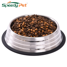 Stainless Steel Dog Feeders Pet Feeding Bowl Multiple Sizes Cat Food Water Bowl Water Food Dish Pet Storage S/M/L/XL Non-slip(China)
