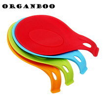 Kitchen Tool Heat Resistant Silicone Spoon Rest Utensil Spatula sponge holder silicone kitchen organizer shelf storage hanger