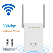 300Mbps WiFi Router 2.4GHz WiFi Repeater Signal Amplifier Booster Network Extender with Dual Band Antenna with WPS Repeater(China)