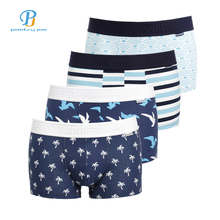 Buy PINK HEROES 4Pcs / Lot Men Underwear Boxers Ocean Wind Print Cotton Men Boxer Underwear Sexy Striped Brand Mens Shorts Panties