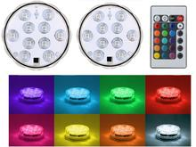 1Pc/lot RGB LED Battery Light Up Stand Base Display Party Wedding Supplies Centerpiece Idea led submersible led light underwater