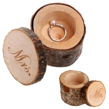 New Natural Wooden Wedding Ring Box Jewelry Display Storage Case Engagement Gift(China)